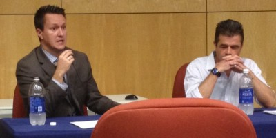 Liam Anderson, a professor from Wright State University, and Glen Duerr, an associate professor in Cedarville's history and government department, spoke during the summit on Scotland's vote for independence.