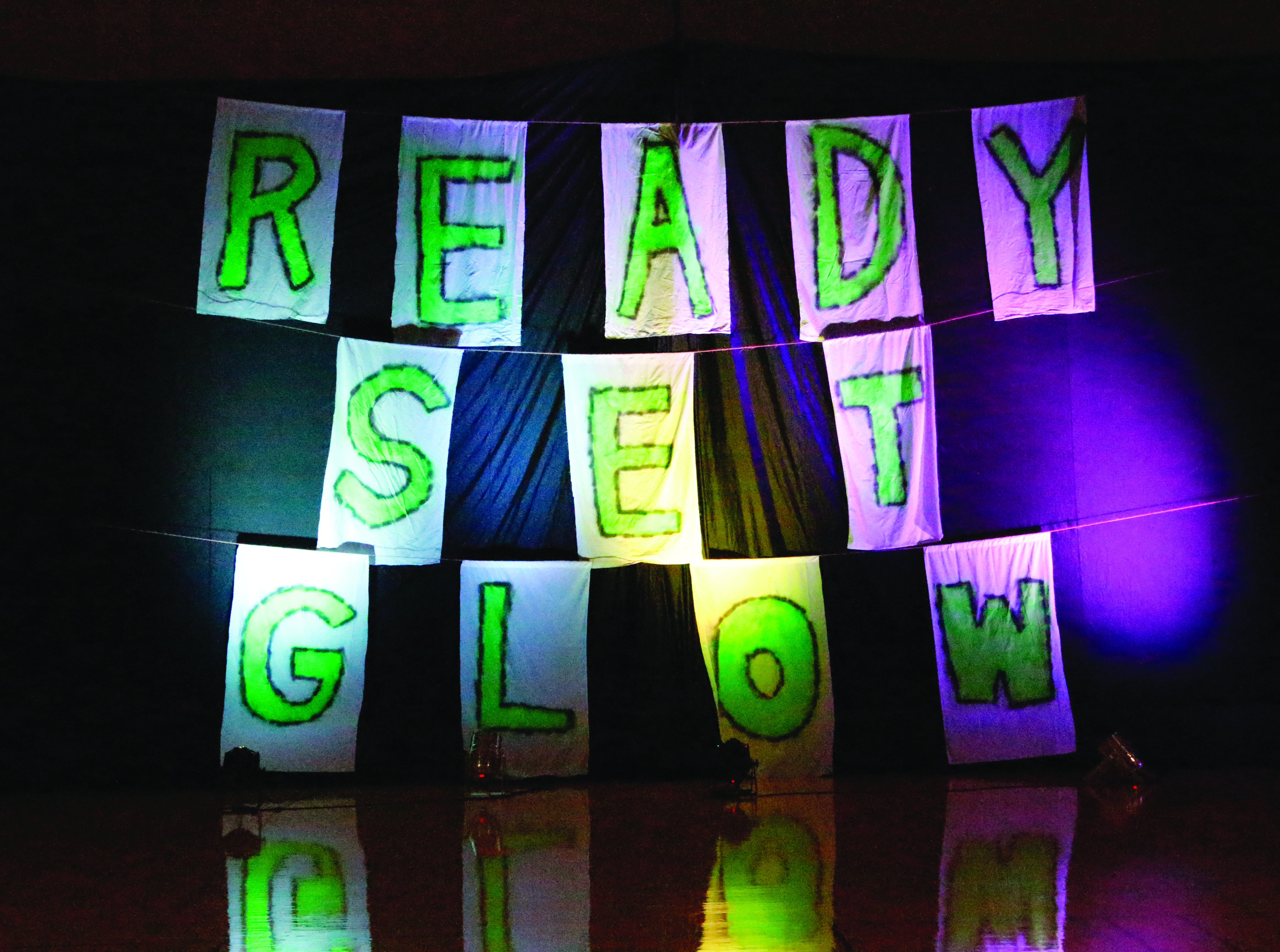 """The Integrated Business Core kicks off the weekend at Cedarville with """"Ready, Set, Glow"""". The event, held Saturday, Oct. 22 from 7:30 p.m. to almost midnight, featured campus golf, bubble soccer and a DTR show, all with a glowing theme."""