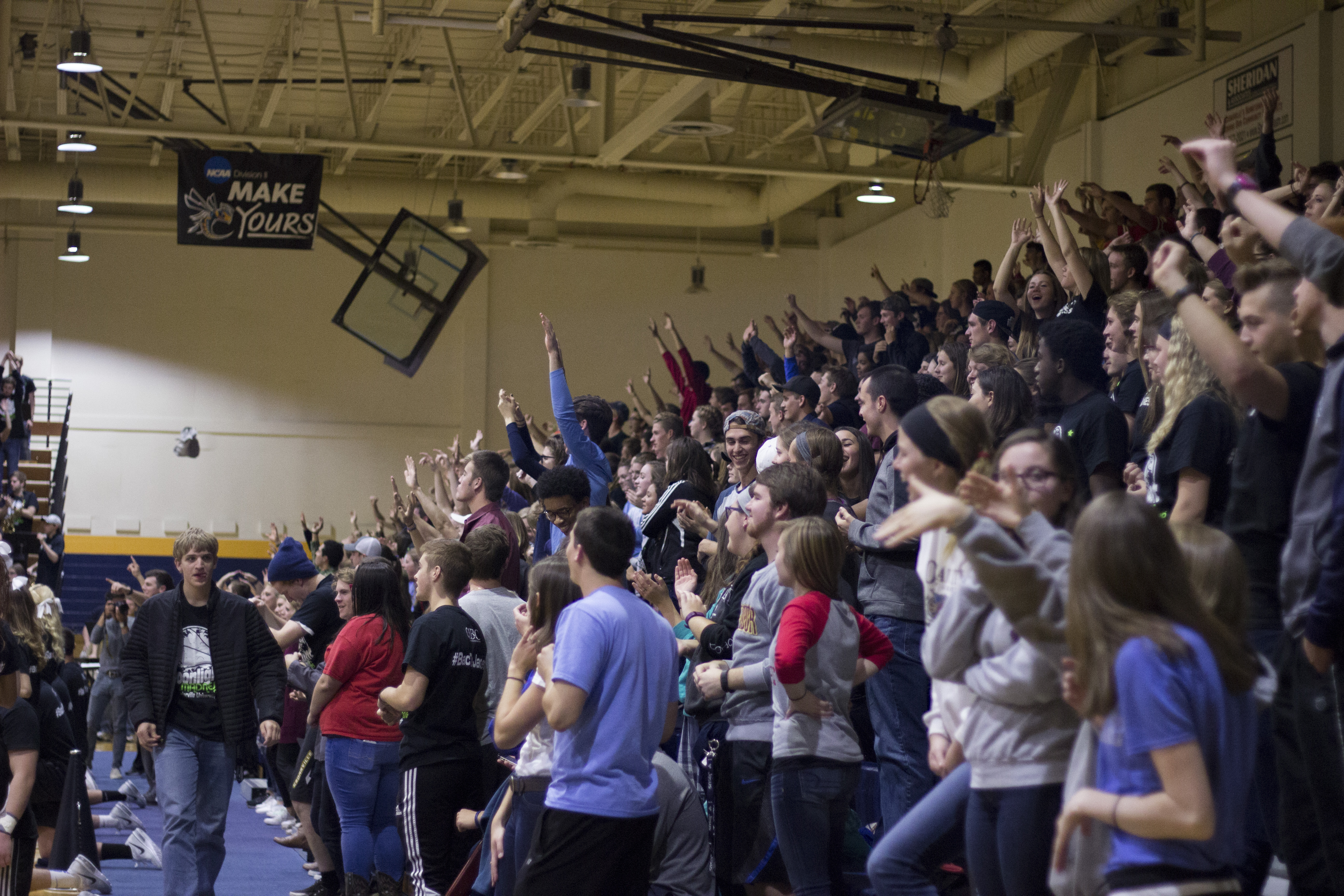 The student turnout was one that Coach Estepp says he hopes to see at every basketball game.