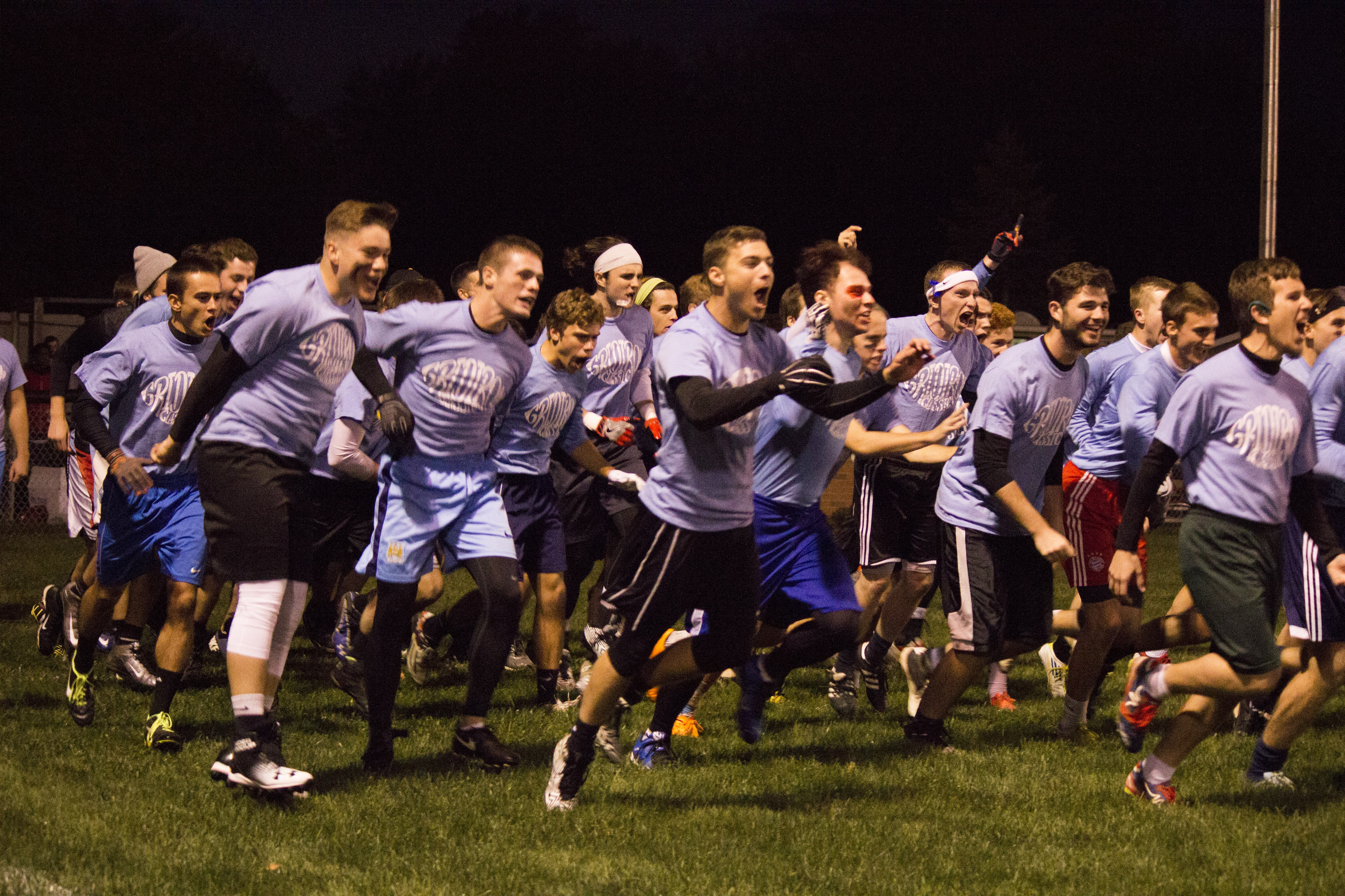 Lawlor storms the field, ready to take their first victory in 5 years. Prior to the game, the team claimed to have no set plays.