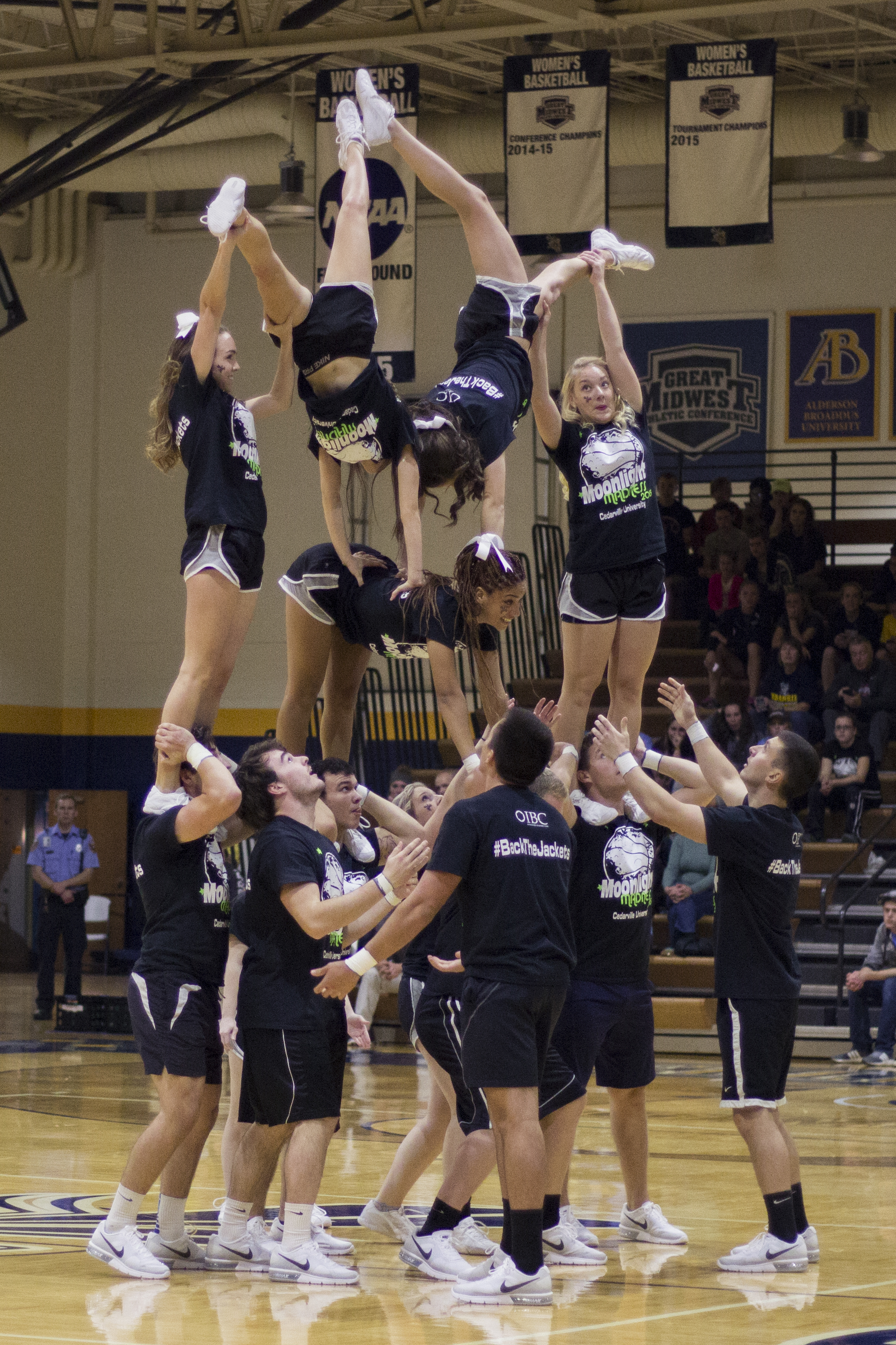 Moonlight Madness also gives the cheerleaders a chance to showcase what they have in store for this season.