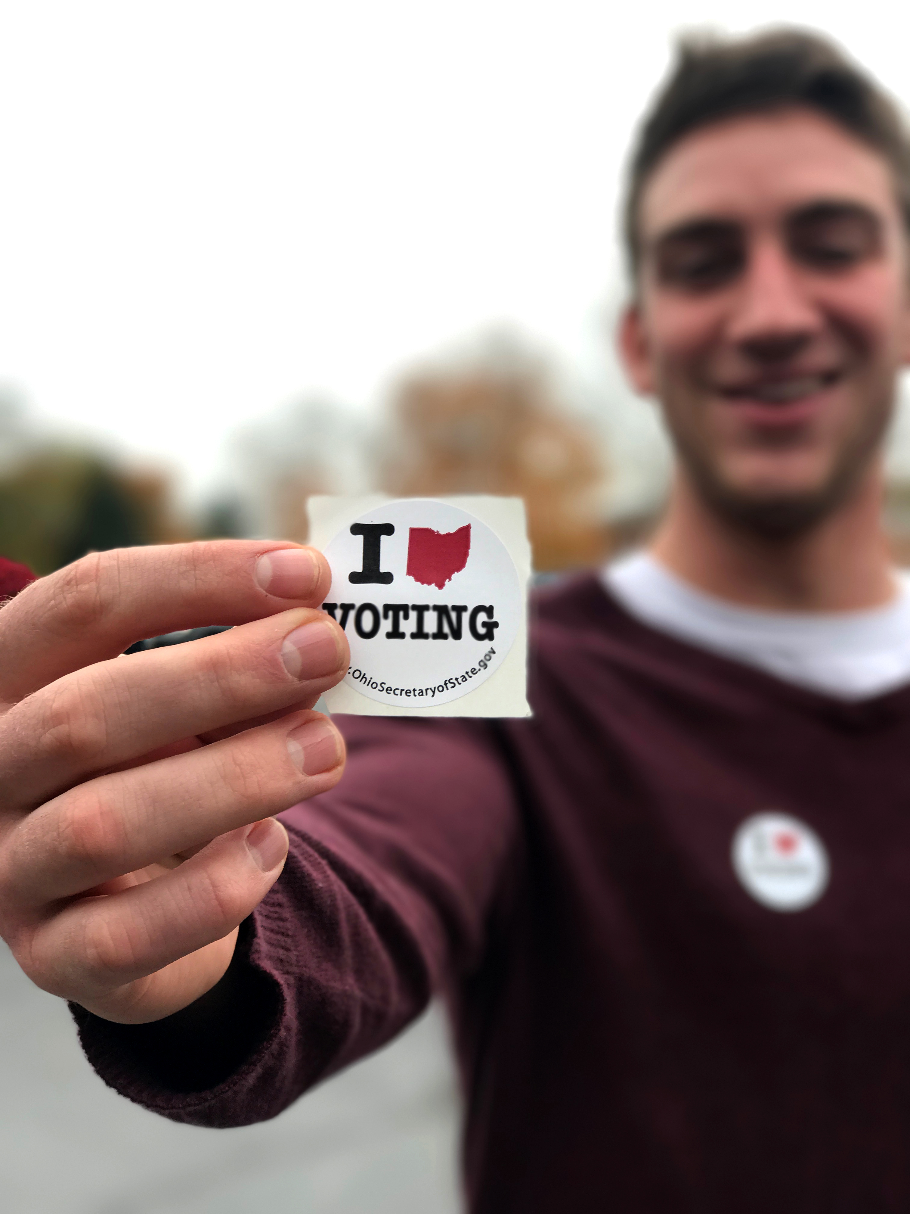 Sophomore Cedarville University student Andrew Ballentine was one of many students who voted.